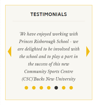 School website testimonials