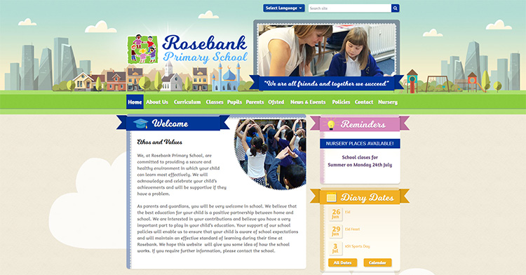 Rosebank Primary School Website Launch