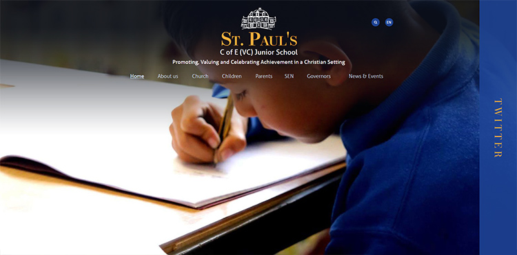 St Paul's school - latest school website design