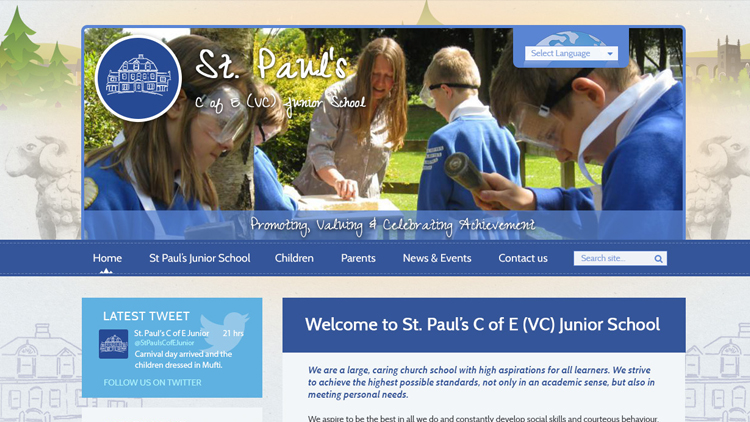 St Paul's school website redesign