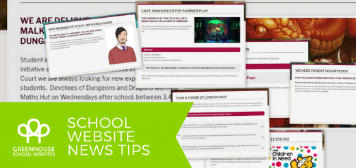 School website news tips