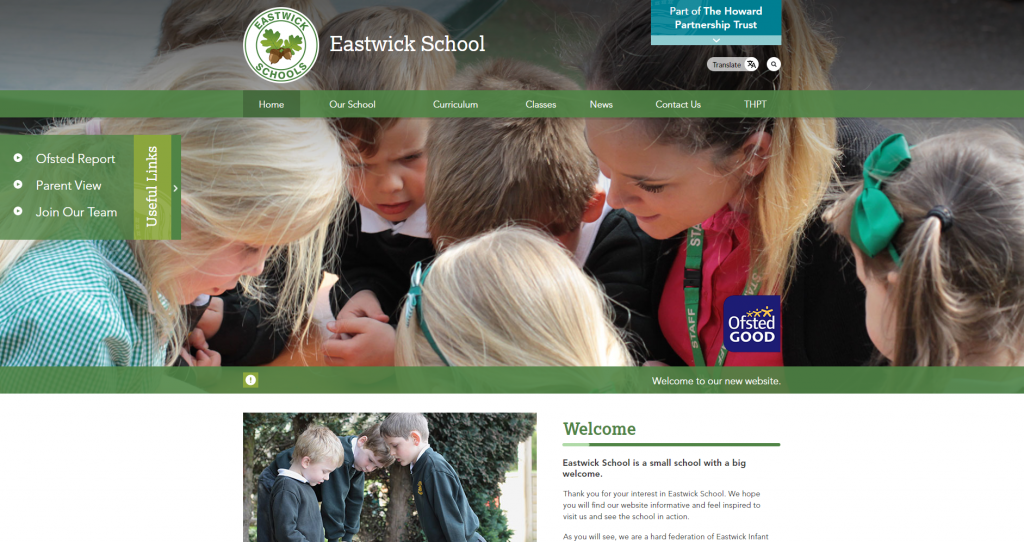 Eastwick Schools Website by Greenhouse School Websites