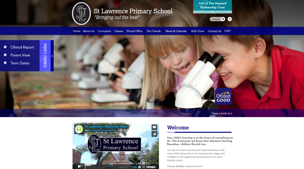 St Lawrence Primary Website by Greenhouse School Websites