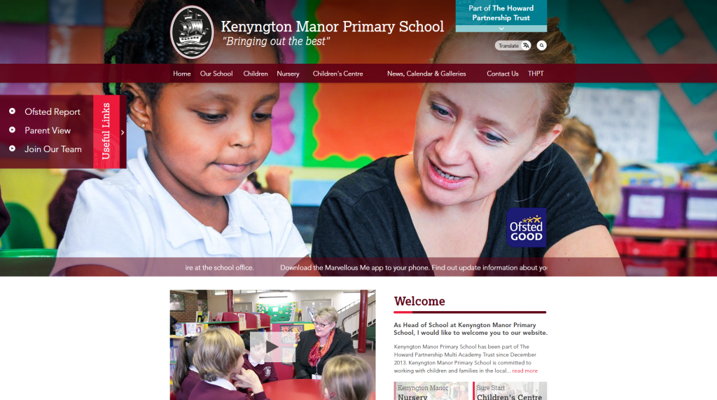 Kenyngton Manor Primary School Website by Greenhouse School Websites