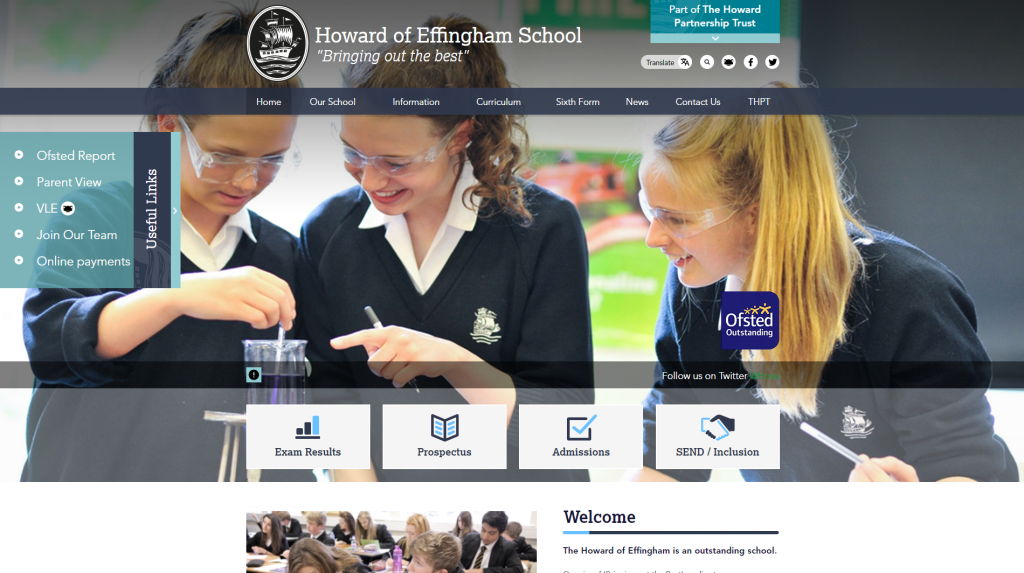 Howard of Effingham School by Greenhouse School Websites