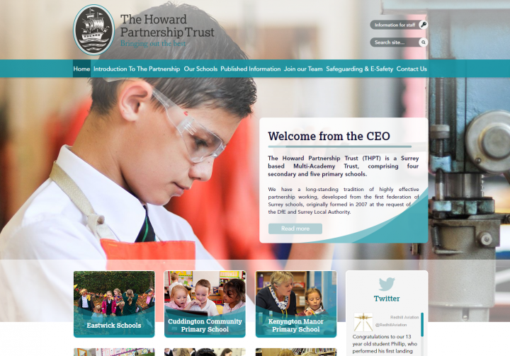 The Howard Partnership Trust Website Example of Multi Academy Trust websites by Greenhouse School Websites