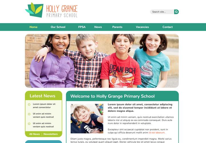 friendly school website templates