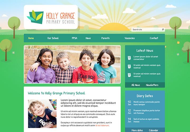 nature school website template
