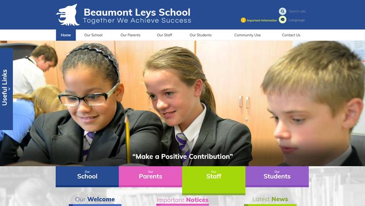 Beaumont Leys Secondary School Website by Greenhouse School Websites