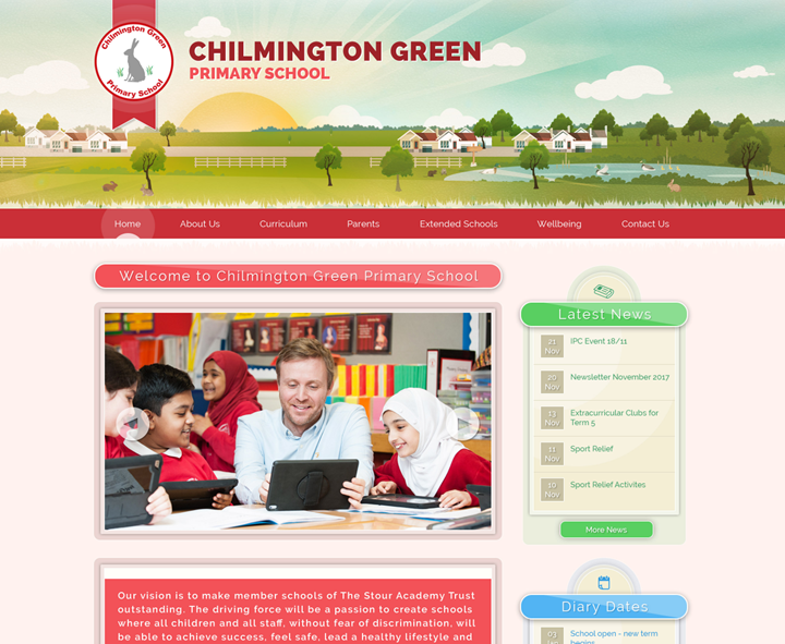 Chilmington Green Primary School Website Design by Greenhouse School Websites