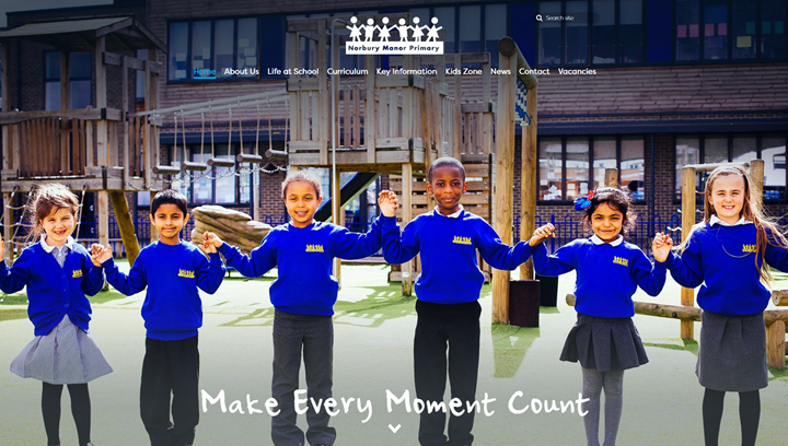 Norbury Manor Primary School Website Design by Greenhouse School Websites