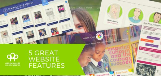 5 great school website features