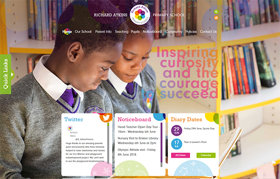 school website features - identity