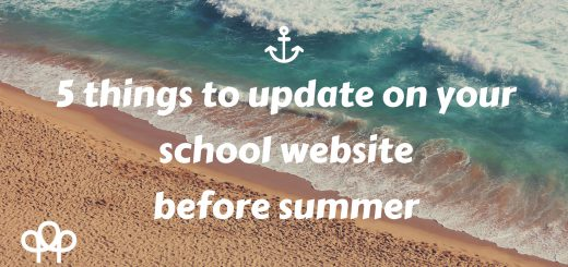 5 things to update on your school website before summer