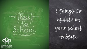 School website content updates