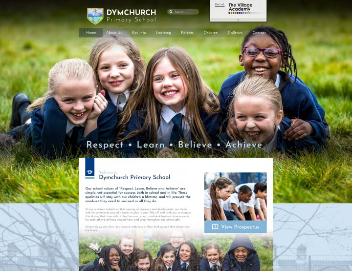 Dymchurch Primary School Trust School Websites Design 2014 by Greenhouse School Websites