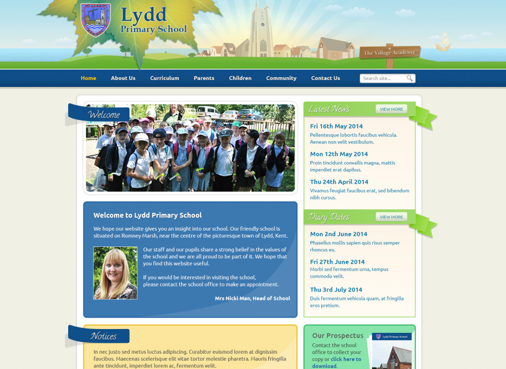 Lydd Primary Trust School Websites 2014 by Greenhouse School Websites