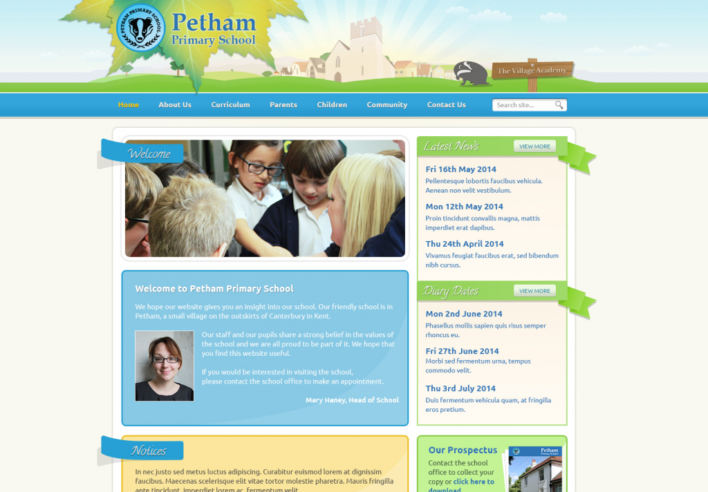 Petham Primary Trust School Websites 2014 by Greenhouse School Websites