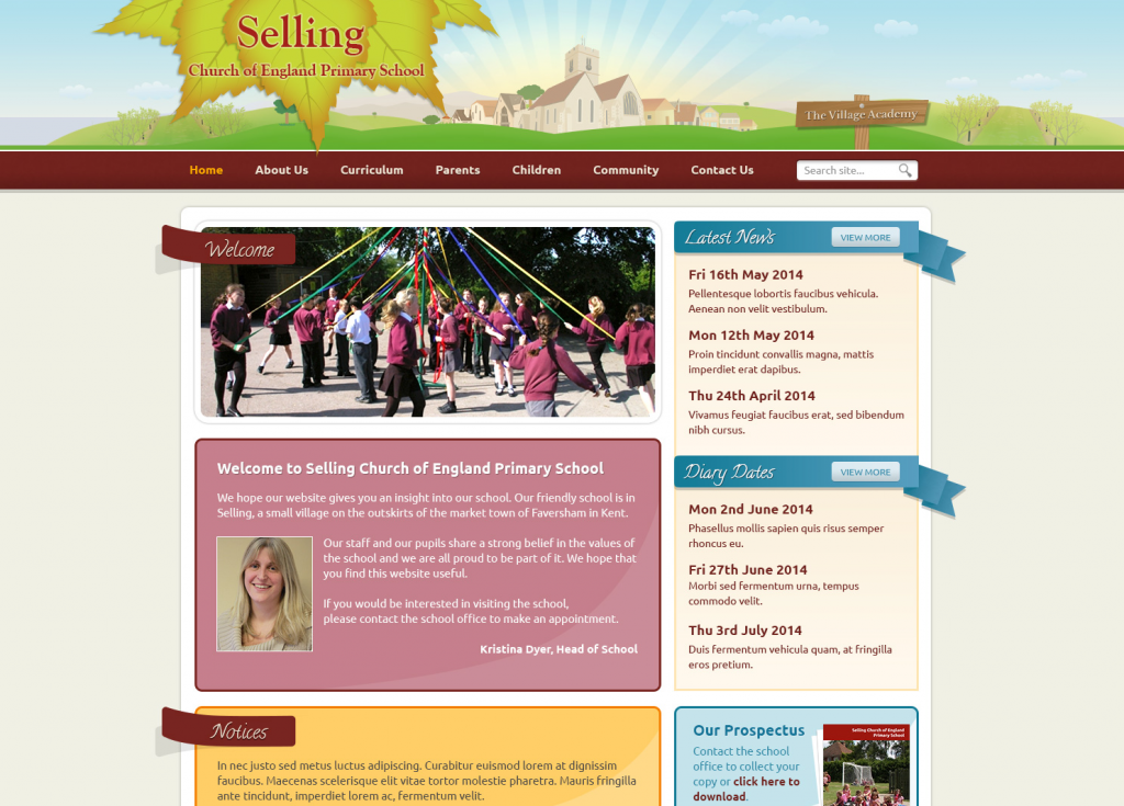 Selling Primary Trust School Websites Design 2014 by Greenhouse School Websites