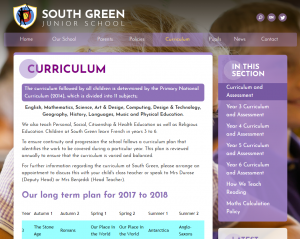 South Green Junior School Website