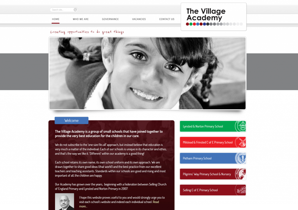 Village Academy Trust Website Design 2014 by Greenhouse School Websites