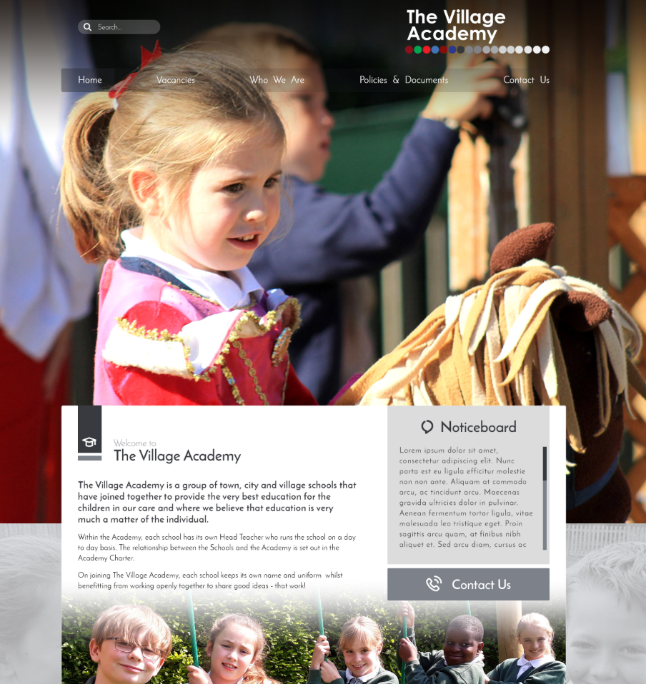 Village Academy Trust School Websites Design 2018 by Greenhouse School Websites