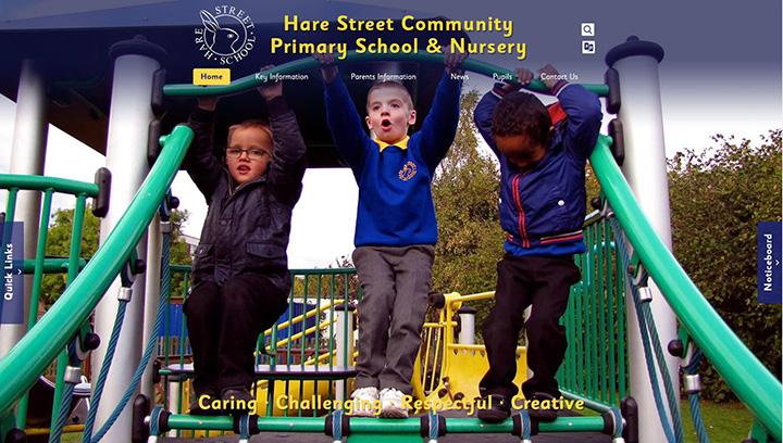 Hare Street School Website Design