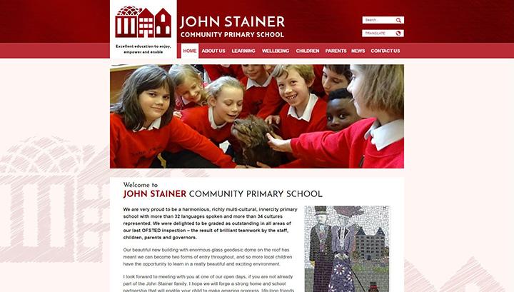 John Stainer Primary School, Lewisham Website Design