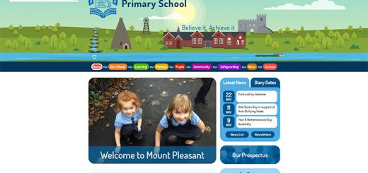 Mount Pleasant School Website Design