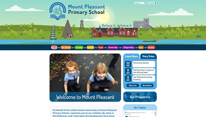 Mount Pleasant School Website Design 2018