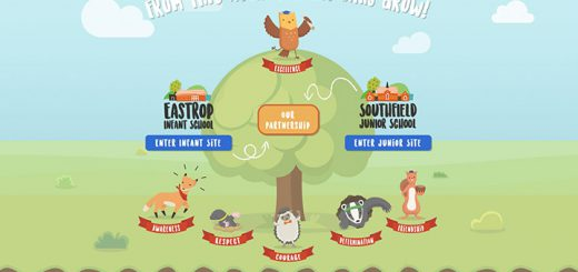 Best School Website Splash Page Creative Design