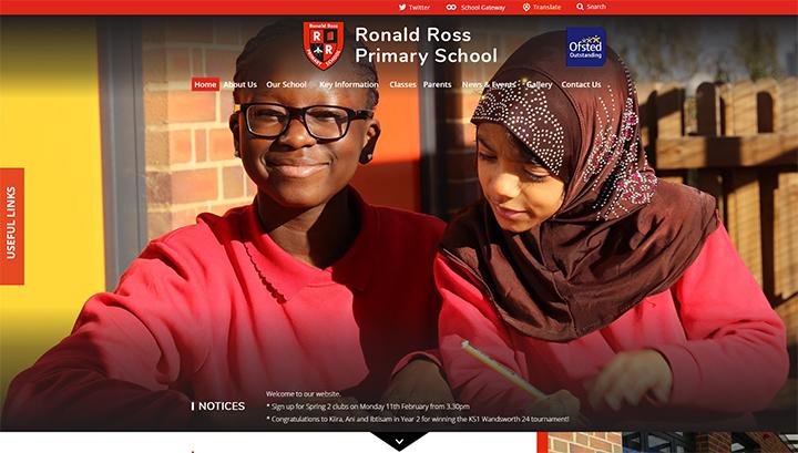 Ronald Ross Red school website