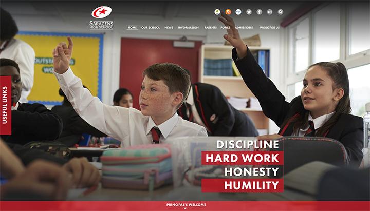 Saracens Red school website