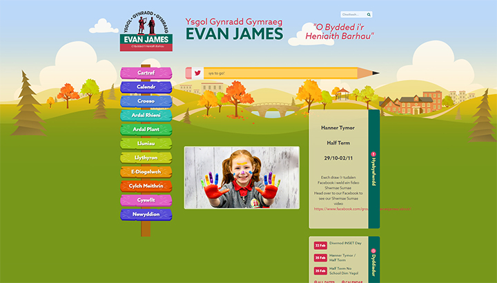 Colourful Primary School Website