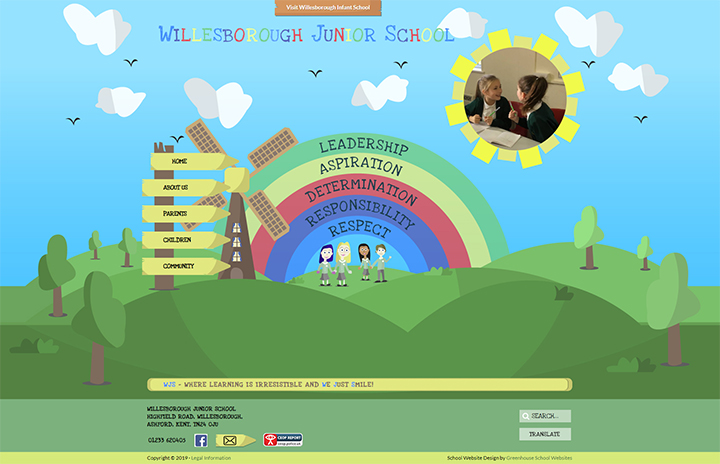 Colourful School Website