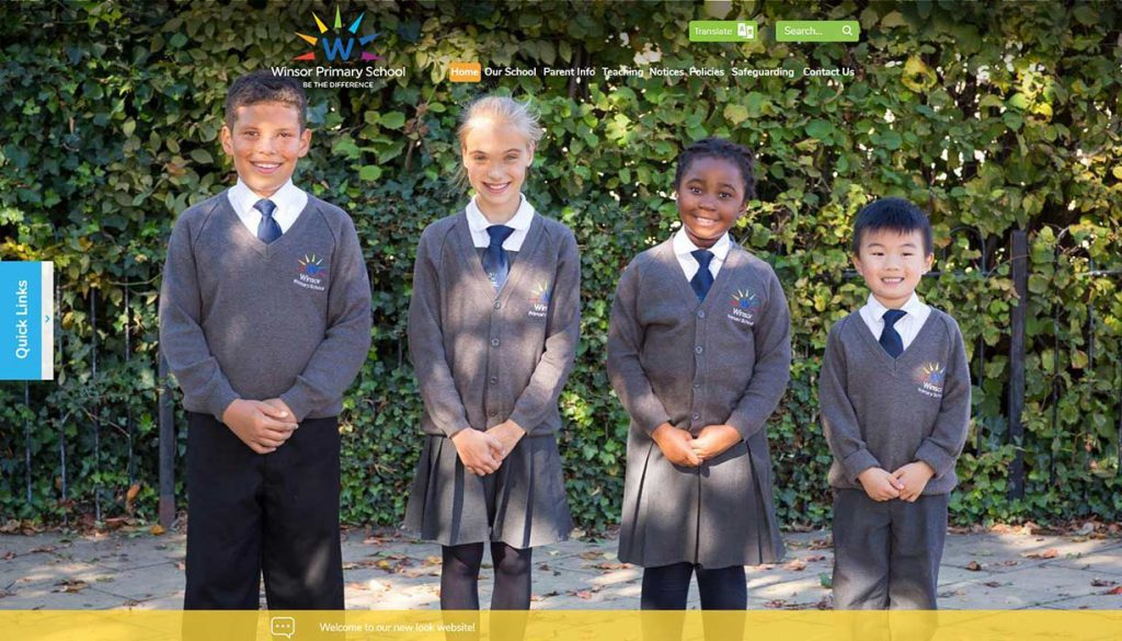 winsor-primary-school-website-design