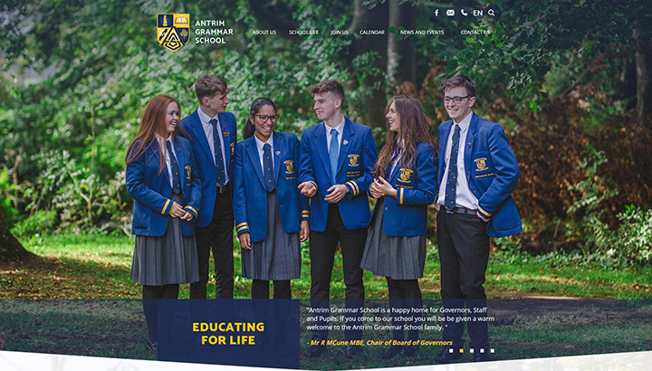 Grammar School Website Design
