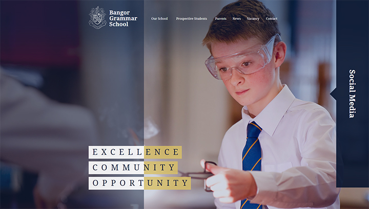 Bangor Grammar School Website Design