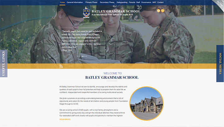 Batley Grammar School Website Design