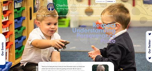 charlton wood primary school website design