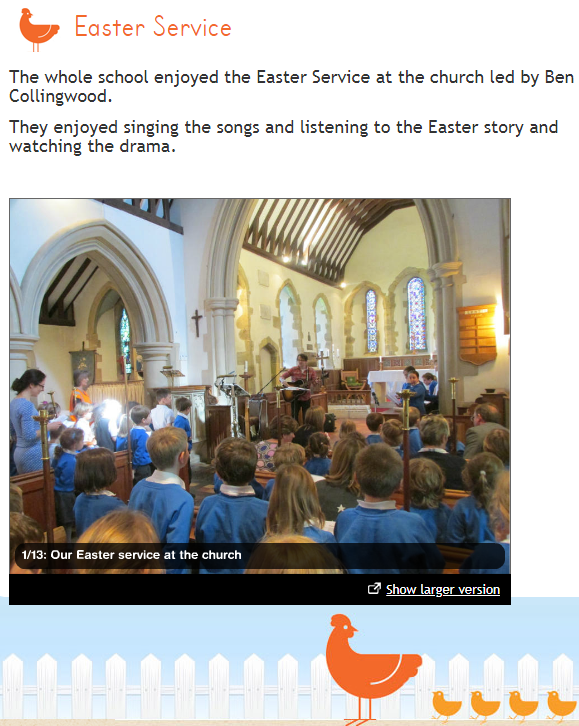 Fittleworth Village School Easter Service