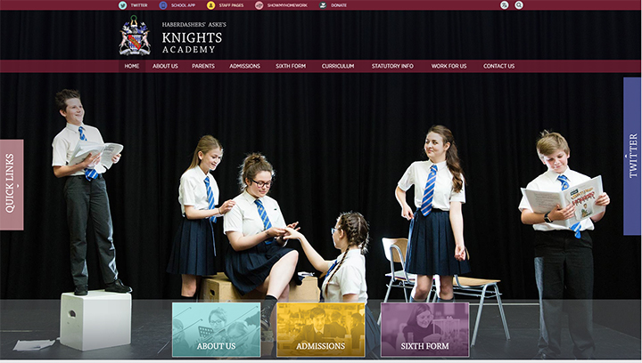 Knights Academy Shared School Website Design