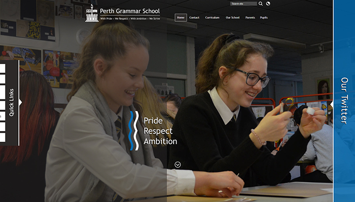 Perth Grammar School Website Design