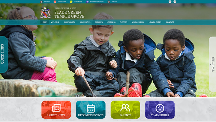 Shared School Website Design