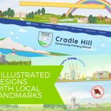 9 illustrated school website designs