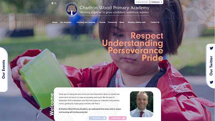 Charlton Wood Academy website launch