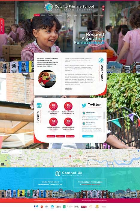 Colcille Primary school website design