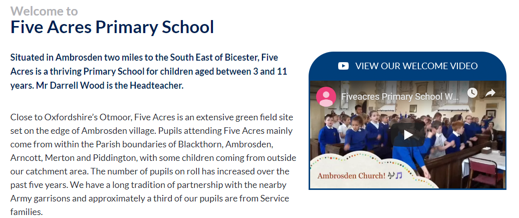 Five Acres Primary School Video