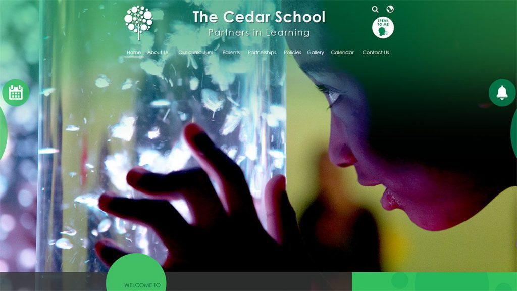 Cedar school website design accessibility