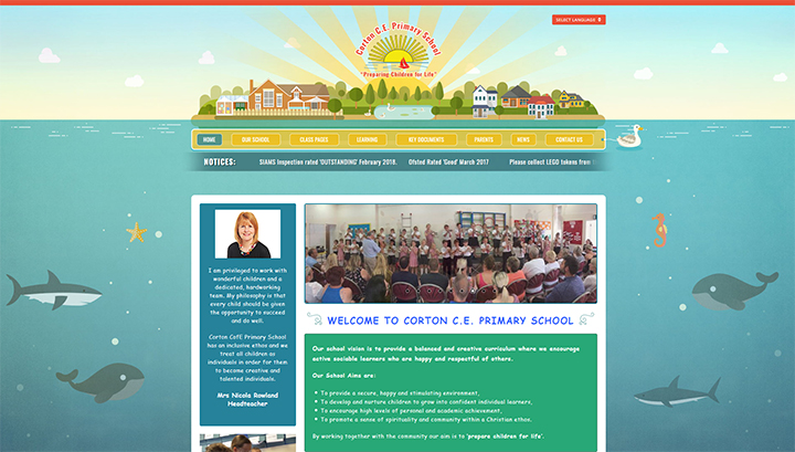 Sealife School Website Design
